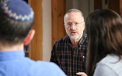 Aryeh Ben David, founder of the Jerusalem-based Ayeka: The Center for Soulful Education, leading a training session. (Courtesy: Ayeka)
