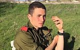 Ron Yitzhak Kokia, an IDF soldier who was stabbed to death in a terror attack on November 30, 2017. (Israel Defense Forces)