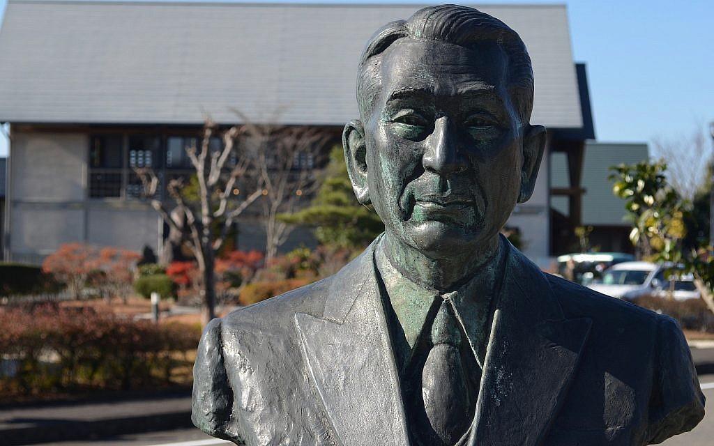 In Yaotsu, Japan, in November 2017, a bust of Chiune Sugihara at the Memorial Hall museum in his honor. (Michael Wilner)