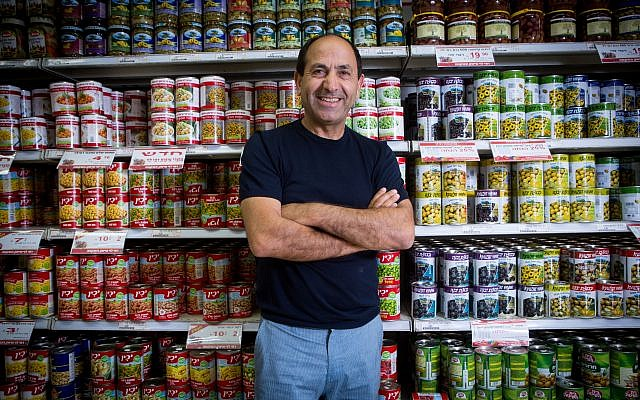 Portrait of Rami Levi taken in his supermarket in Jerusalem. on June 23, 2016. (Miriam Alster / FLASH90)