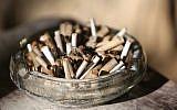 Illustrative. Cigarettes in an ashtray. (Yossi Zamir/ Flash90)