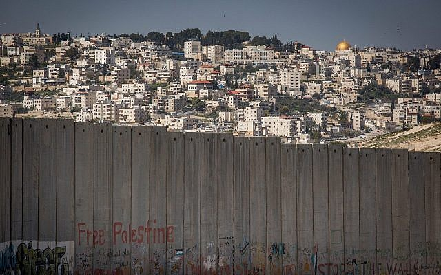 The West Bank town of Abu Dis, on the outskirts of Jerusalem. (Miriam Alster/Flash90)