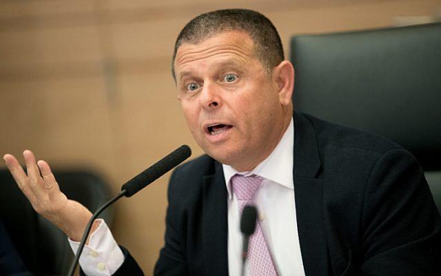 MK Eitan Cabel (Zionist Union) at the Knesset, June 2017 (Yonatan Sindel/Flash90)