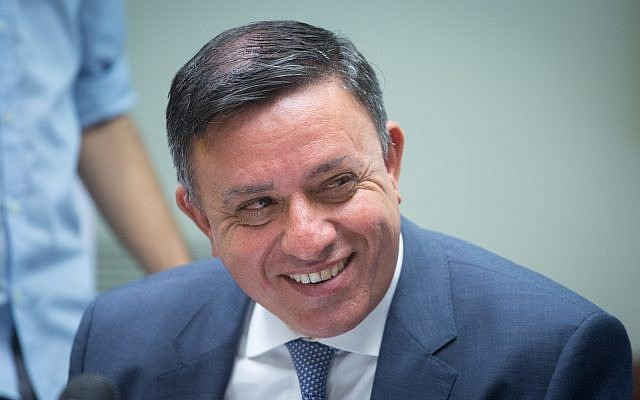 Head of the Zionist Union Avi Gabbay (Miriam Alster/FLASH90)