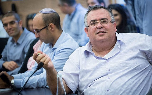 MK David Bitan (Likud) attends a Knesset Finance Committee meeting on November 6, 2017. (Miriam Alster/Flash90)
