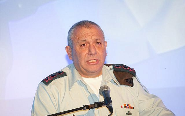 IDF Chief of Staff Gadi Eisenkot on November 14, 2017. (Flash90)