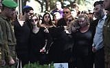 Hundreds attend the funeral for 19-year-old  soldier Ron Kokia in Tel Aviv's Kiryat Shaul military cemetery on December 3, 2017. (Miriam Alster/Flash90)