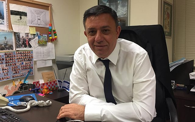 Labor Party chairman Avi Gabbay, in his Knesset office on December 25, 2017 (Times of Israel staff)