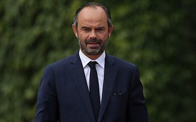 French Prime Minister Edouard Philippe preparing to review a guard of honor upon Philippe's arrival at the German Chancellery in Berlin, Germany, September 15, 2017. (Sean Gallup/Getty Images)