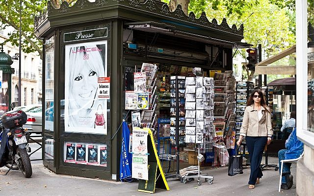 A newsstand in Paris. (CC BY-SA 2.0, Nicki Dugan, Wikimedia Commons)