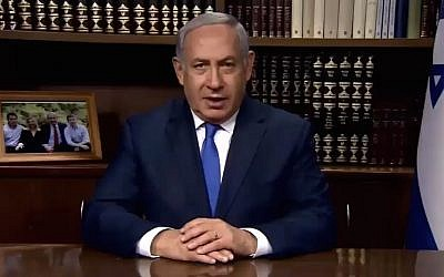 Prime Minister Benjamin Netanyahu attacks Iran over its treatment of Christians in a video released on December 29, 2017. (Screen capture: Twitter)