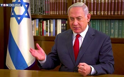 Prime Minister Benjamin Netanyahu speaks during an interview in the PMO on December 29, 2017. (Screen capture/YouTube)