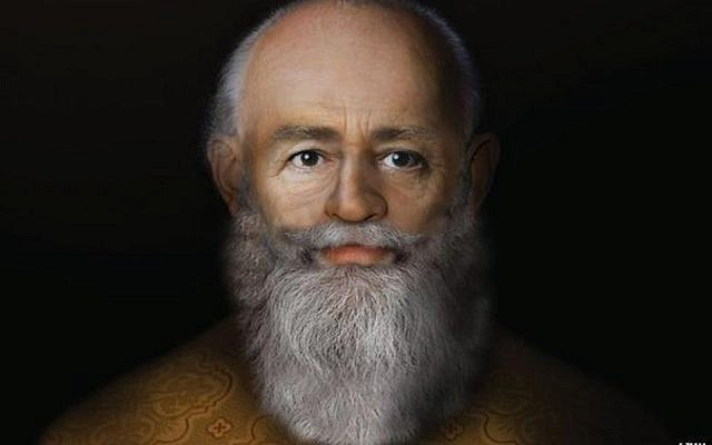 Reconstruction of the face of St. Nicholas by Prof. Caroline Wilkinson. (Image courtesy Liverpool John Moores University)