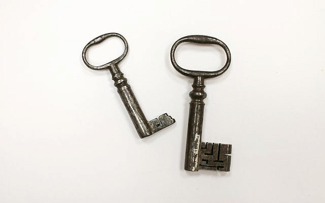 Symbolic keys to the city of Jerusalem (Courtesy of Maidstone Museum and Bentilff Art Gallery)