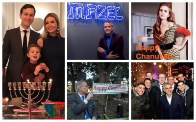 Hanukkah on social media. (Times of Israel collage)
