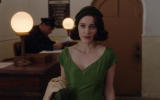 Rachel Brosnahan plays a spurned Jewish Upper West Side wife who discovers a hidden talent for comedy in 'The Marvelous Mrs. Maisel.' (Screenshot)