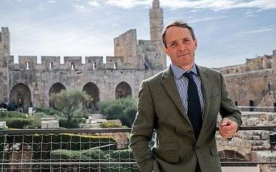 Viscount Allenby of Megiddo and Felixstowe at The Tower of David Museum, December 10, 2017 (Ricky Rachman)