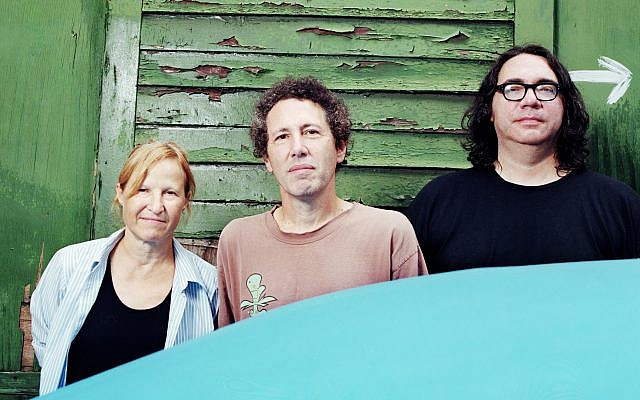 Yo La Tengo members, from left to right: Georgia Hubley, Ira Kaplan and James McNew. (Jacob Blickenstaff/via JTA)