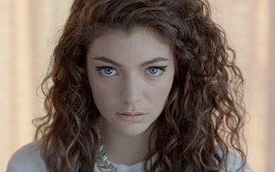 Pop singer Lorde (YouTube screenshot)
