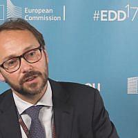 EU Ambassador to Israel Emanuele Giaufret (YouTube screenshot)