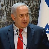Prime Minister Benjamin Netanyahu speaks at the President's Residence in Jerusalem on December 13, 2017 (GPO)