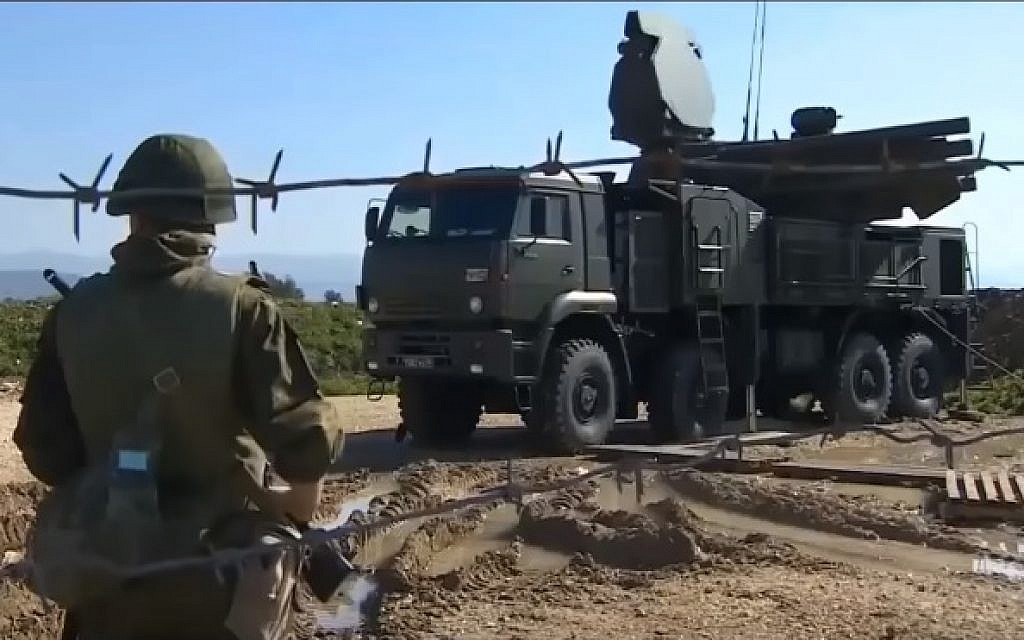 A Pantsir-S1 weapons system, illustrative (YouTube screenshot)