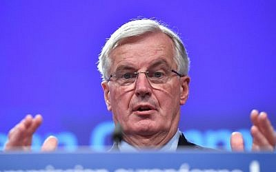 European Union chief Brexit negotiator Michel Barnier addresses a press conference at the European Commission in Brussels on December 20, 2017. (AFP PHOTO / EMMANUEL DUNAND)