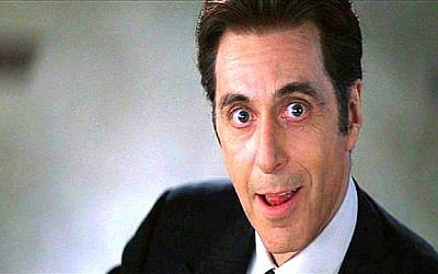 Al Pacino as Satan in the film 'Devil's Advocate' (screen capture: Warner Brothers)