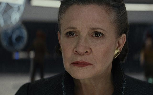 Carrie Fisher as General Leia in 'The Last Jedi.' (Screenshot/Courtesy Walt Disney/Lucasfilms)