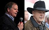 Doug Jones (L) and Roy Moore (Justin Sullivan/Getty Images/AFP, Joe Raedle/Getty Images/AFP)