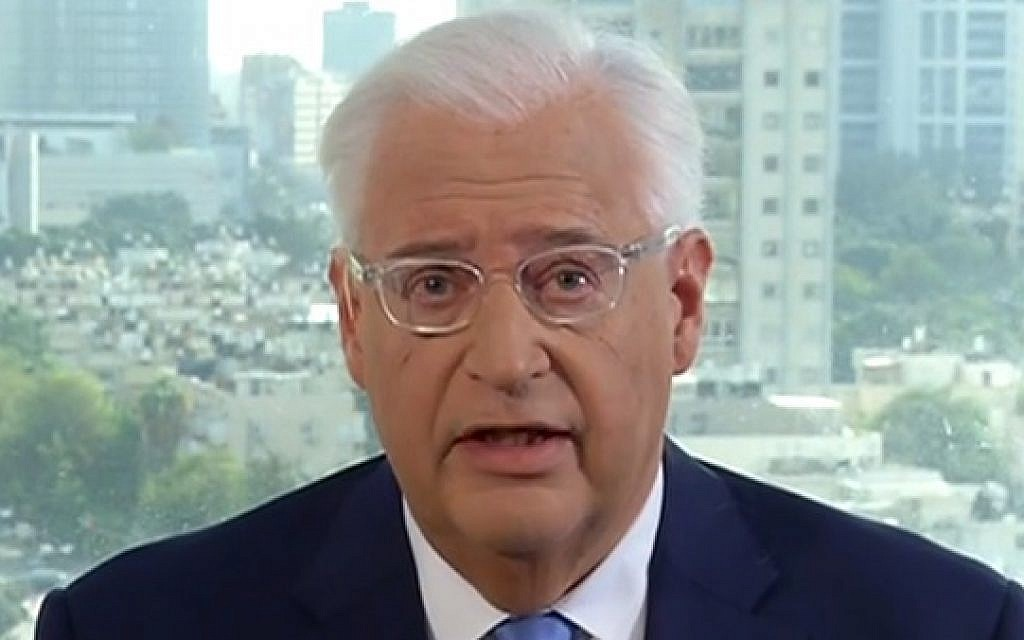 US Ambassador to Israel David Friedman speaking to Fox News on December 7, 2017. (Fox News screenshot)