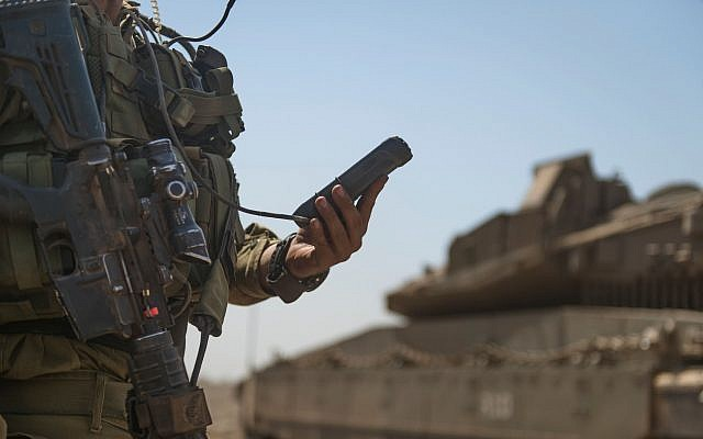 Sensors on tanks will send an alert when maintenance is required (IDF Spokesperson's Unit)