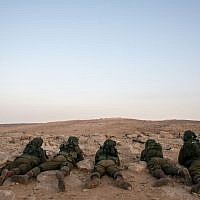 Soldiers in the IDF's Desert Reconnaissance Battalion (Israel Defense Forces)