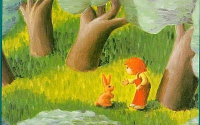 Illustrative: Cover photo from David Grossman's children's book, Itamar Meets a Rabbit (in Hebrew: Itamar pogesh arnav).