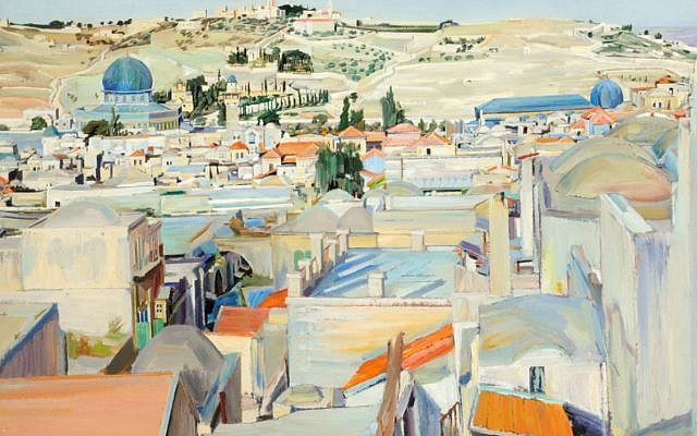 'Jerusalem City and Mount of Ascension' by David Bomberg. (Courtesy Pallant House Gallery)