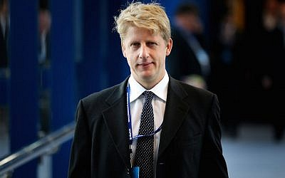 Jo Johnson, government policy adviser and brother of then London mayor Boris Johnson, attends the Conservative party conference on September 30, 2014, in Birmingham, England. (Peter Macdiarmid/Getty Images via JTA/File)