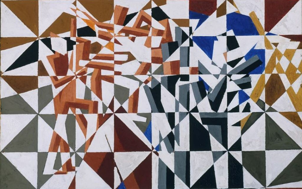 'Ju-Jitsu' by David Bomberg. (Courtesy Pallant House Gallery)