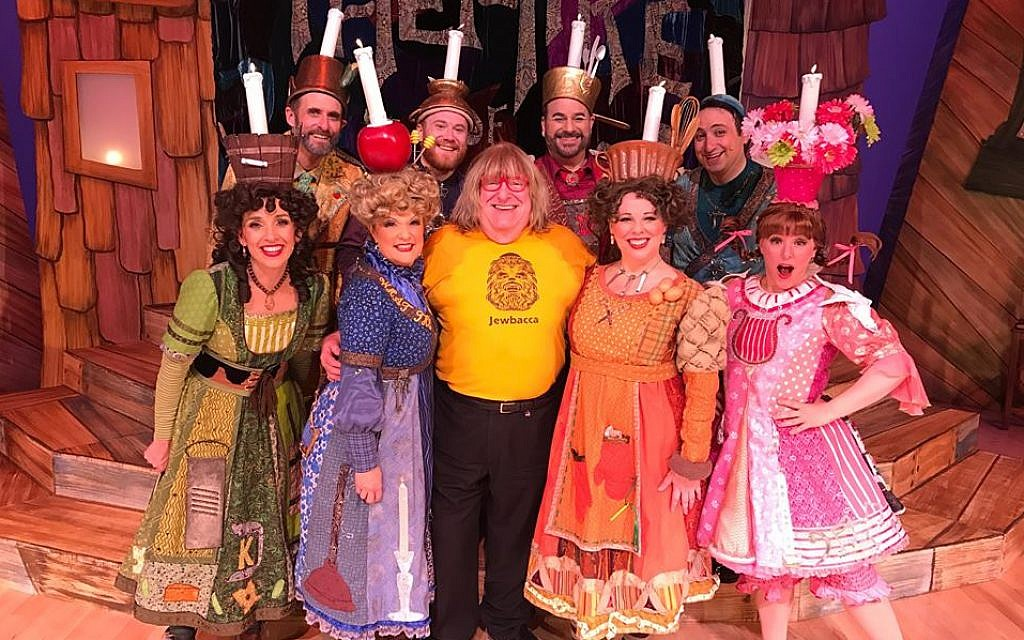 "The cast of ""The MeshugaNutcracker! The Chanukah Musical,"" including guest star Bruce Vilance (center), in 2016. A film version of the musical comedy will be screened on Dec. 19, 2017 (Courtesy: Guggenheim Entertainment)"