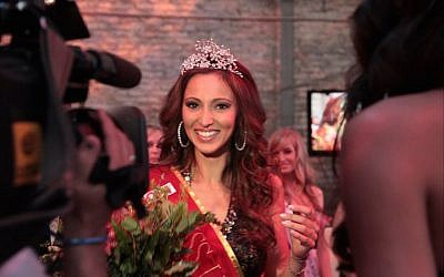Valeria Bystriskaia being crowned Miss Universe Germany in Berlin, July 7, 2011. (Courtesy of Bystriskaia)