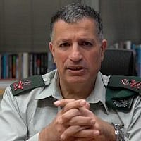 The Defense Ministry's Coordinator of the Government's Activities in the Territories, Maj. Gen. Yoav Mordechai. (Screenshot)