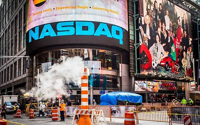 The Nasdaq building in Times Square in New York. (littleny, iStock by Getty Images)