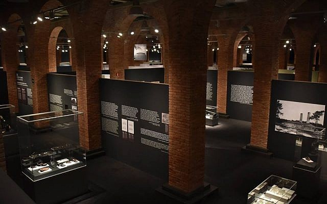 At the Arte Canal in Madrid, Spain, artifacts from Auschwitz-Birkenau went on display in December 2017 (Courtesy of Musealia)