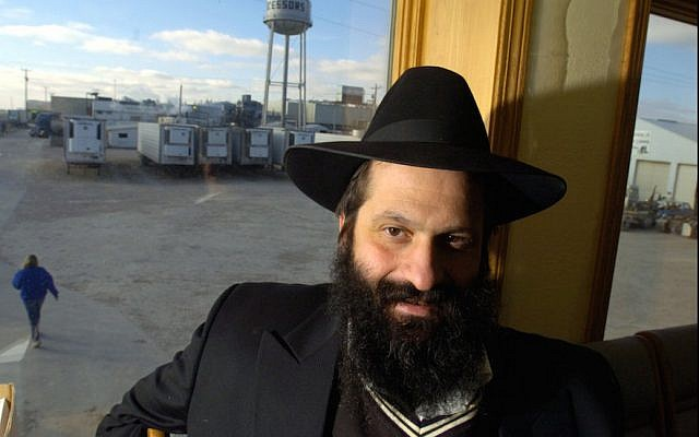 Sholom Rubashkin, seen in Postville, Iowa, in December 2004, served eight years of a 27-year prison term for bank fraud. (Zbigniew Bzdak/Chicago Tribune/TNS via Getty Images via JTA)