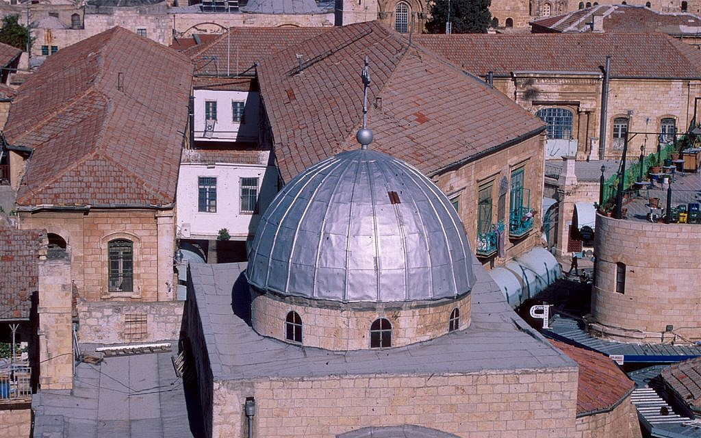 The Church of St. John the Baptist was established by the Byzantine empress Eudocia in the 5th century. (Shmuel Bar-Am)