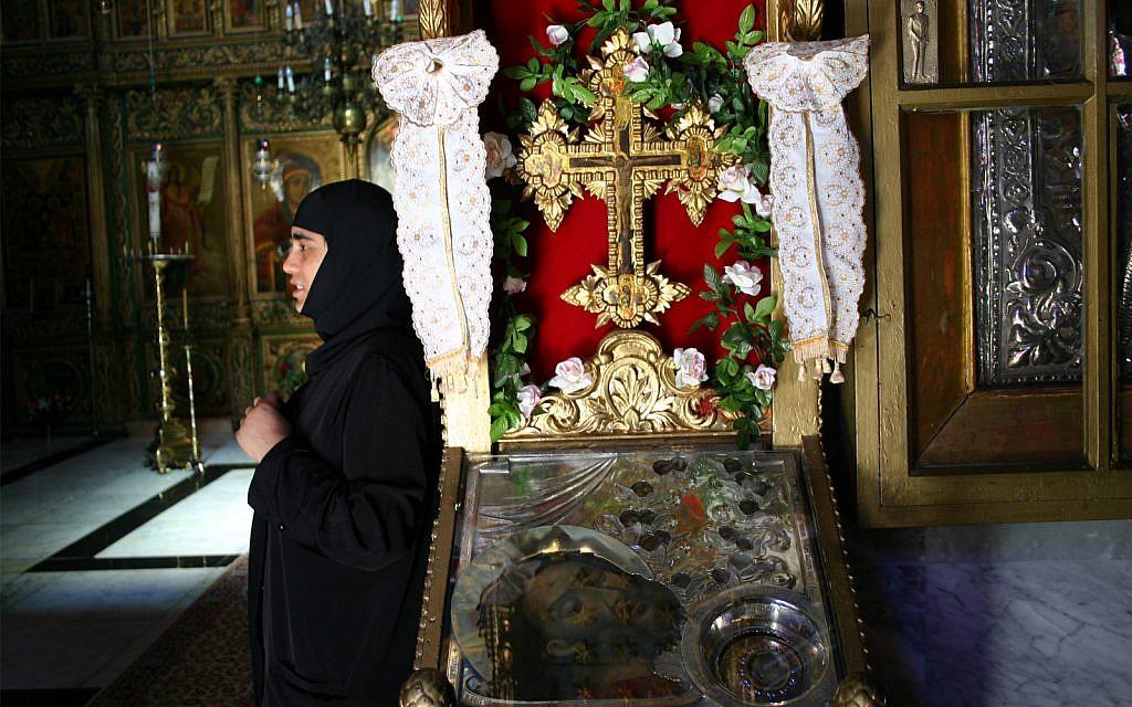 Inside the Greek Orthodox Church of St. John the Baptist. (Shmuel Bar-Am)