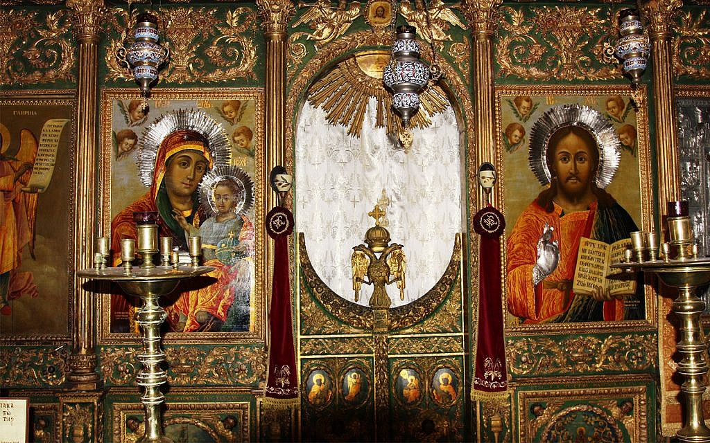 The Church of St. John the Baptist features some of the most ornate interiors in Jerusalem. (Shmuel Bar-Am)