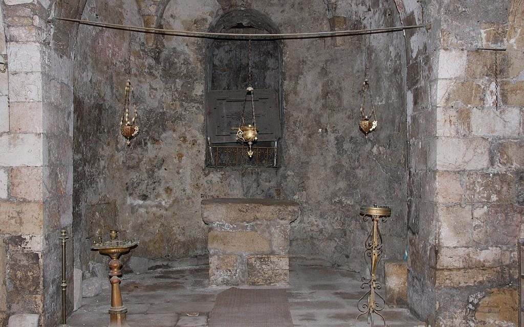 Inside the original church of St. John the Baptist. (Shmuel Bar-Am)