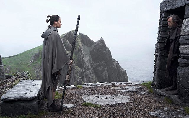 Rey tries to convince Luke Skywalker to come back and face Destiny in 'The Last Jedi.' (Screenshot/Courtesy Walt Disney/Lucasfilms)