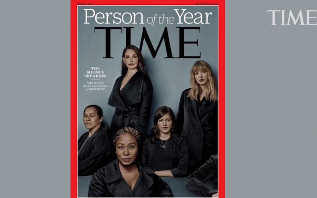 Time Person of the Year 2017 cover. (Screen capture/YouTube)