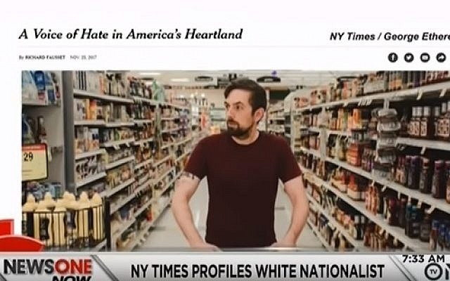Tony Hovater, the white nationalist profiled by the New York Times (YouTube screenshot)